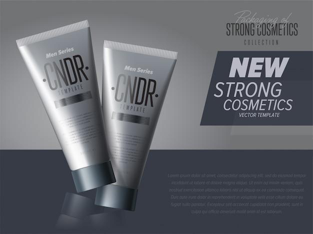 Реалистичный косметический лосьон для кожи серебряный контейнер