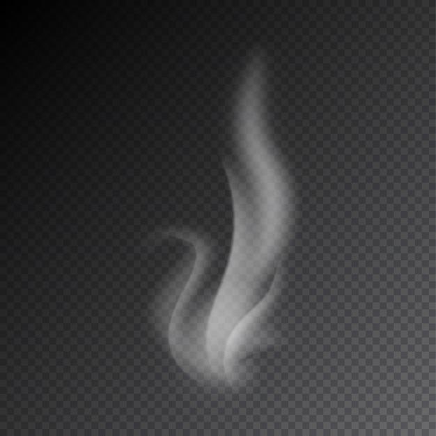 透明な背景にベクトルを煙します。