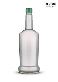 ウォッカボトルガラスモックアップ分離
