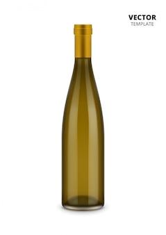 Бутылка вина, изолированная на белом