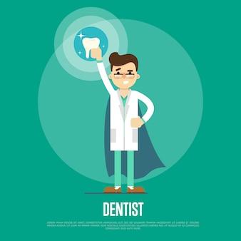Стоматологическая помощь с мужской стоматолог