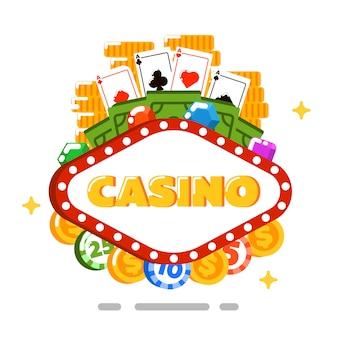 フラットスタイルのカジノ分離概念