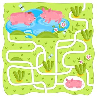 迷路、子供向けロジックゲーム