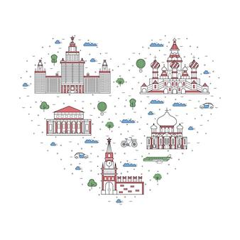 Я люблю московские элементы в линейном стиле