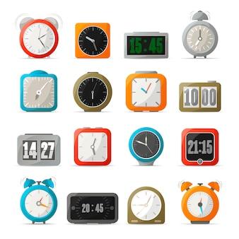 デジタルおよびアナログの目覚まし時計セット