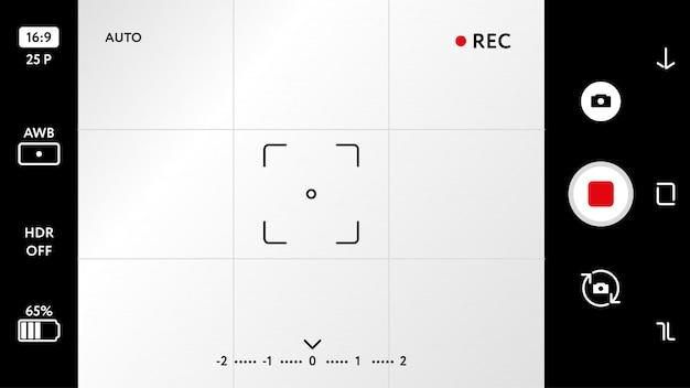空白のスマートフォンカメラフォーカシングスクリーン