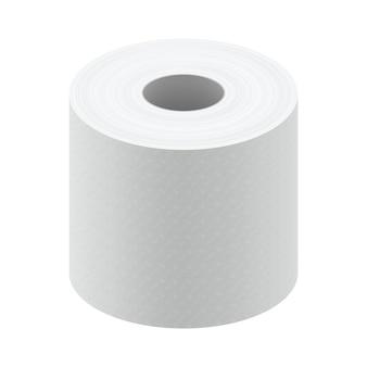 白い空白の感熱紙ロール