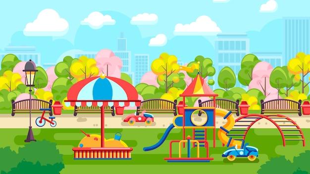 Иллюстрация городской детской площадки