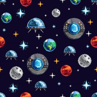 スペースリピートピクセルの背景