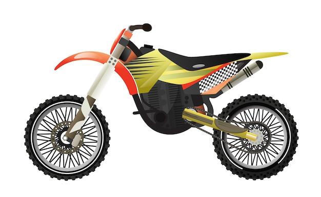 Ралли мотоцикл изолированных значок