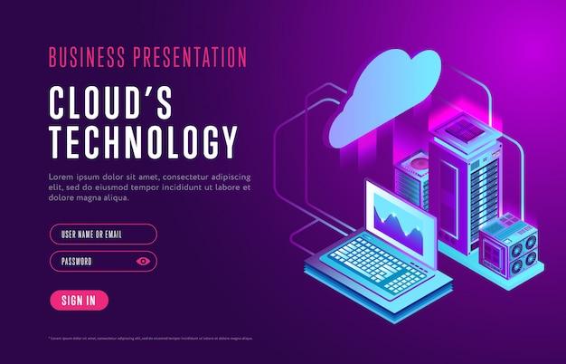 Шаблон веб-страницы технологии облачных баз данных