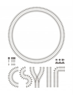 白で隔離される鉄道建設