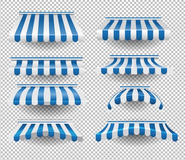 Набор синих навесов
