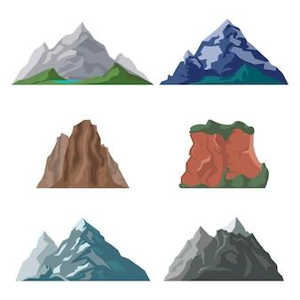 山と崖のセット