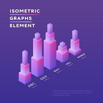 等尺性グラフのスタイリッシュなデザイン