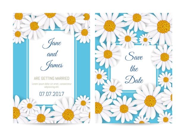 咲くチューリップの花の結婚式の招待状