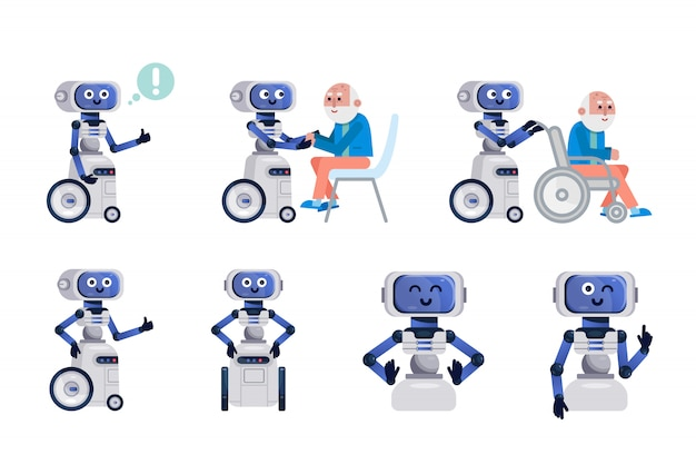 Робот помощник изолированы.