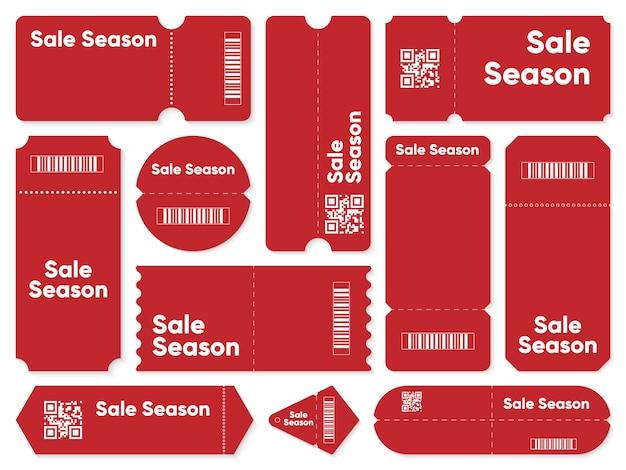 Купоны с написанием сезона продаж