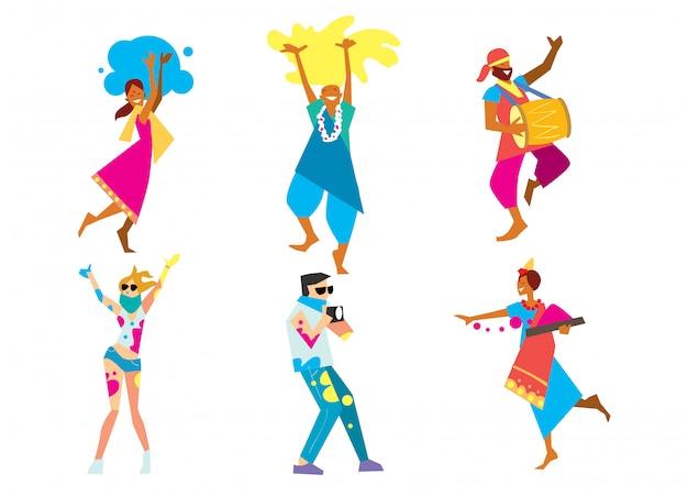 Фестиваль холи, векторная иллюстрация