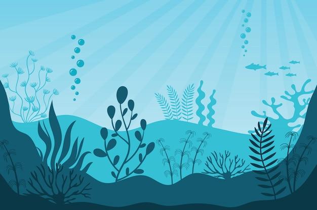 海上生活。美しい海洋生態系