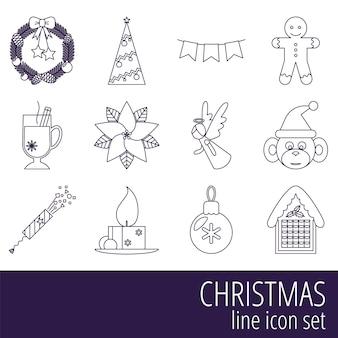 Рождественский набор иконок