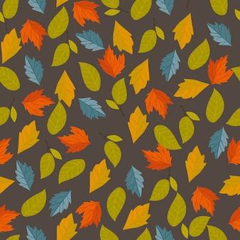 Осенний вектор бесшовные модели.
