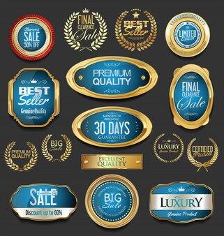 Роскошный золотой дизайн