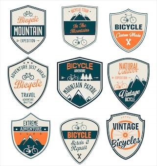 自転車レトロバッジコレクション