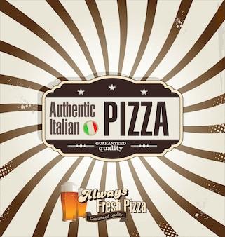 ピザのレトロな背景