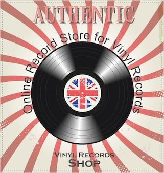 ビニールレコードのレトロな背景