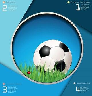 サッカーの背景