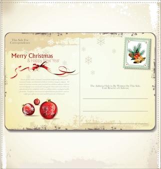 ヴィンテージクリスマスポストカード