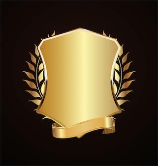 Золотой экран ретро-дизайн