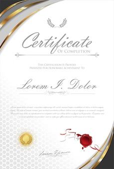 証明書または卒業証書レトロテンプレート
