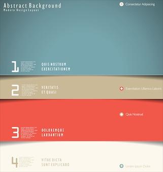 現代デザインのレイアウト