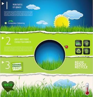 現代のエコロジーデザインレイアウト