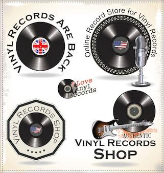 ビニールレコードのラベル