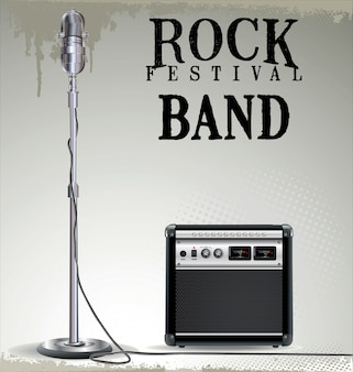 ロックコンサートの背景