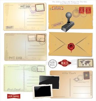 郵便料金の要素のセット
