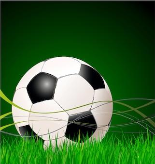 サッカーの背景イラスト