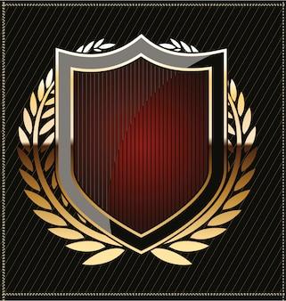 Золотой щит с лавровым венком