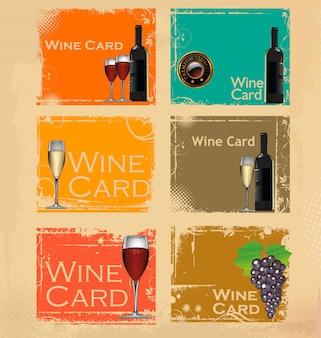 ワインカードのベクトル図