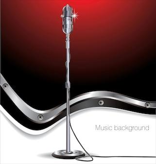 レトロな音楽の背景