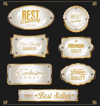 ゴールデンセールラベルレトロビンテージデザインコレクション