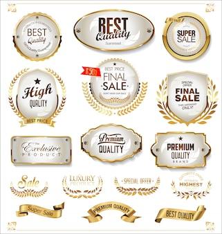 Роскошные премиальные золотые значки и ярлыки