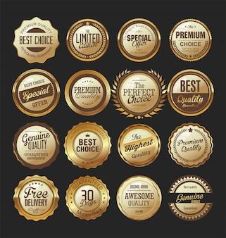 Роскошные премиальные золотые значки
