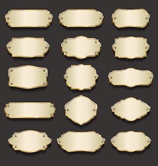 Металлические таблички золотая коллекция
