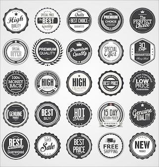 Коллекция ретро винтаж значки