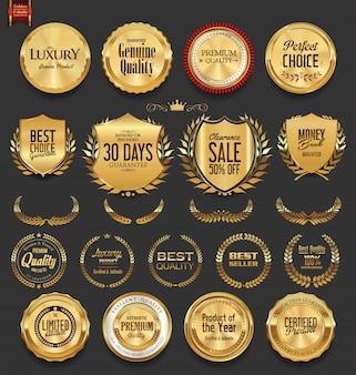 Золотые значки и ярлыки