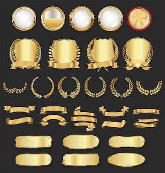 Роскошные золотые значки и ярлыки
